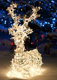 Illuminated reindeer abstract Stock Image