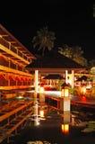 Illuminated relaxation area of luxury hotel Royalty Free Stock Photo