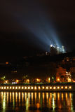 illuminated riverside Στοκ Φωτογραφία