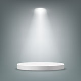 Illuminated round pedestal. Illuminated round stage podium pedestal. Vector illustration Royalty Free Stock Image