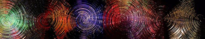 Illuminated round shaped grooved glass-panels #1 Royalty Free Stock Photos