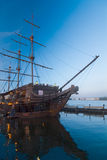 Illuminated sailing ship Royalty Free Stock Images