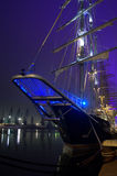 Illuminated sailing ships Stock Photo