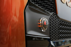 Illuminated Scania Sign on Vehicle Grille Royalty Free Stock Photo