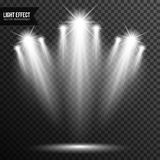 Spotlight illumination, bright light, stage, podium vector transparent royalty free stock image