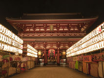 Illuminated Sensoji at night Stock Photo