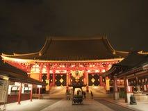 Illuminated Sensoji at night Stock Photos