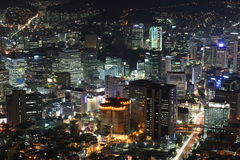 Illuminated Seoul City Royalty Free Stock Image