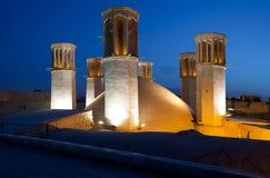 Illuminated Shesh Badgiri Reservoir of Yazd Against Blue Sky Royalty Free Stock Images