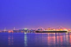 illuminated ship Στοκ Εικόνα