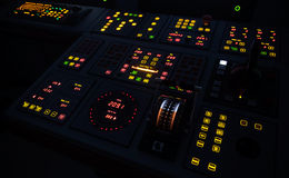 Illuminated ship control panel Royalty Free Stock Photo