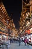 Illuminated Shiziling area at night, Shanghai, China Stock Photography