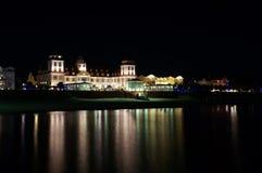 Illuminated shoreline of the Baltic Sea royalty free stock photos