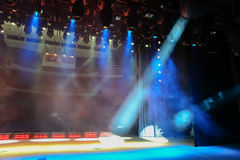Illuminated show stage Royalty Free Stock Photography