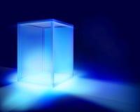 Illuminated showcase. Vector illustration. Royalty Free Stock Photos