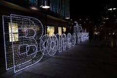 Illuminated sign Happy Holidays Stock Image