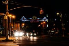 Illuminated sign Stock Photography