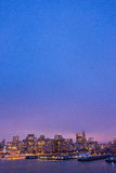 Illuminated skyline of San Francisco, California Royalty Free Stock Photos
