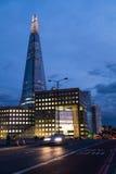 Illuminated skyscraper at night Royalty Free Stock Photography
