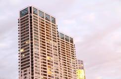 Illuminated Skyscrapers Royalty Free Stock Photo