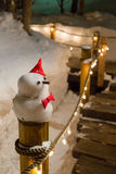 Illuminated snowman Royalty Free Stock Photo