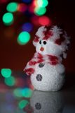Illuminated Snowman doll Royalty Free Stock Images