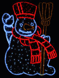Illuminated snowman Royalty Free Stock Images