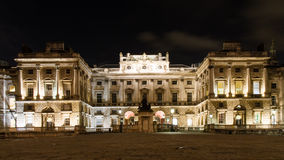 Illuminated Somerset House at night Stock Photography