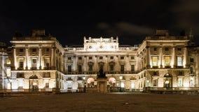 Illuminated Somerset House at night. London, England Stock Photography