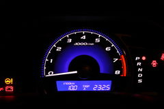 Illuminated speedometer Royalty Free Stock Photos