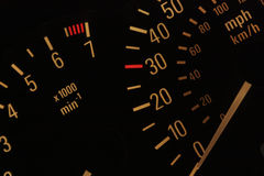 Illuminated Speedometer Stock Image