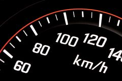 Illuminated speedometer Royalty Free Stock Images