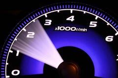 Illuminated speedometer Royalty Free Stock Photography