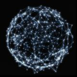 Illuminated sphere of glowing particles Royalty Free Stock Photos