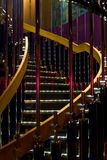 Illuminated spiral steps Royalty Free Stock Images
