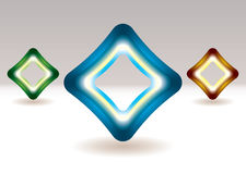 Illuminated square icon Royalty Free Stock Images