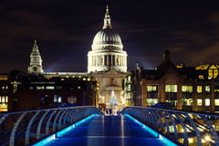 Illuminated St. Pauls Cathedral Royalty Free Stock Photo