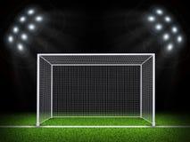 Illuminated stadium with gates Royalty Free Stock Image
