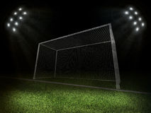 Illuminated stadium with grey gates Stock Photos