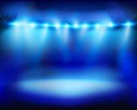 Illuminated stadium. Vector illustration. Royalty Free Stock Image
