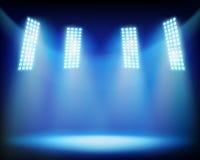 Illuminated stadium. Vector illustration. Royalty Free Stock Photography