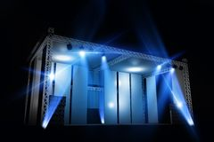 Illuminated Stage Isolated Stock Photos