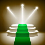 Illuminated stage podium for award ceremony. Illustration Stock Photos