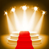 Illuminated stage podium for award ceremony vector illustration Royalty Free Stock Photo