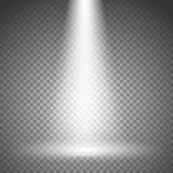 Illuminated stage with spotlight on transparent. Background Royalty Free Stock Image