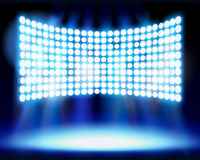 Illuminated stage on the stadium. Vector illustration. Royalty Free Stock Image