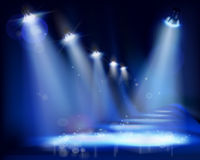 Illuminated stage. Vector illustration. Stock Images