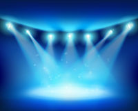Illuminated stage. Vector illustration. Royalty Free Stock Image