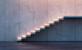 Illuminated stairs Stock Photos