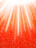 Illuminated and stars. In red background Royalty Free Stock Photo